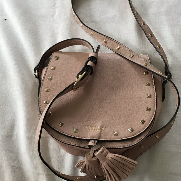 Victoria's Secret Handbags - Blush color Victoria's Secret Stud Crossbody bag🎀